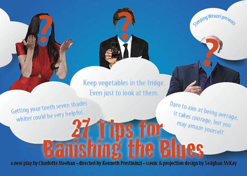 27 Tips for Banishing the Blues postcard